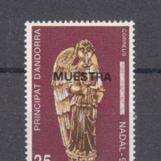 Sellos: .ANDORRA ESPAÑOLA 222 MUESTRA SIN CHARNELA, NAVIDAD, RELIGION, ANGEL IGLESIA SAN ISOLE Y SANTA VICTO. Lote 120756987