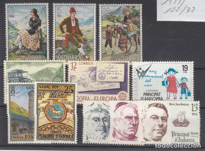 .ANDORRA ESPAÑOLA 122/32 SIN CHARNELA, AÑO 1979 COMPLETO 11 SELLOS (Sellos - España - Dependencias Postales - Andorra Española)