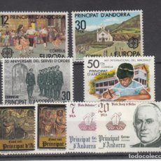 Sellos: .ANDORRA ESPAÑOLA 140/7 SIN CHARNELA, AÑO 1981 COMPLETO 8 SELLOS. Lote 244933540