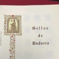 Sellos: ALBUM CON MUCHISIMOS SELLOS DE ANDORRA. Lote 124740507