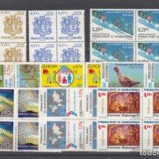 Sellos: .ANDORRA ESPAÑOLA 334/42 EN B4 SIN CHARNELA, AÑO 2006 COMPLETO 9 X 4 SELLOS. Lote 121287623