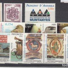 Sellos: .ANDORRA ESPAÑOLA 290/303 SIN CHARNELA, AÑO 2002 COMPLETO 14 SELLOS. Lote 121289215