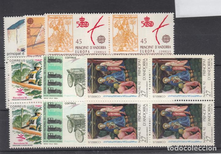 .ANDORRA ESPAÑOLA 229/34 EN B4 SIN CHARNELA, AÑO 1992 COMPLETO 6 X 4 SELLOS (Sellos - España - Dependencias Postales - Andorra Española)