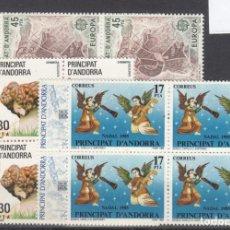 Sellos: .ANDORRA ESPAÑOLA 184/9 EN B4 SIN CHARNELA, AÑO 1985 COMPLETO 6 X 4 SELLOS. Lote 121343583