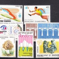 Sellos: .ANDORRA ESPAÑOLA 176/83 SIN CHARNELA, AÑO 1984 COMPLETO 8 SELLOS. Lote 121343823