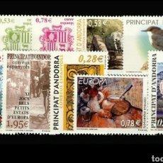 Sellos: ANDORRA ESPAÑOLA:AÑO 2005 COMPLETO Y NUEVO. Lote 125049786