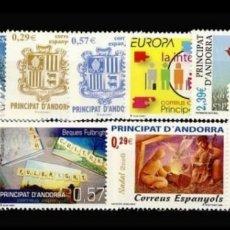 Sellos: ANDORRA ESPAÑOLA :AÑO 2006 COMPLETO Y NUEVO. Lote 125050202