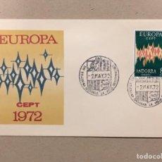 Sellos: EDIFIL 72 EUROPA AÑO 1972 , EN SOBRE DE PRIMER DÍA, 2 DE MAYO DE 1972, PERFECTO. CATÁLOGO 98€. Lote 134135502