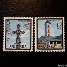 Sellos: ANDORRA ESPAÑOLA. EDIFIL 110/11. SERIE COMPLETA NUEVA SIN CHARNELA. NAVIDAD.. Lote 134720926