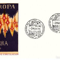 Sellos: ANDORRA SPD. EUROPA 1972 NUM. 72. Lote 136617422