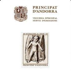 Sellos: ANDORRA .-SERVEI D'EMISSIONS - VEGUERIA EPISCOPAL - 1979. Lote 138578314
