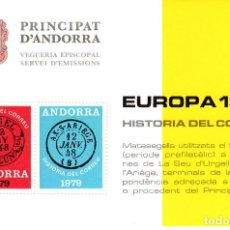 Sellos: ANDORRA .-SERVEI D'EMISSIONS - VEGUERIA EPISCOPAL - EUROPA 1979. Lote 138579694
