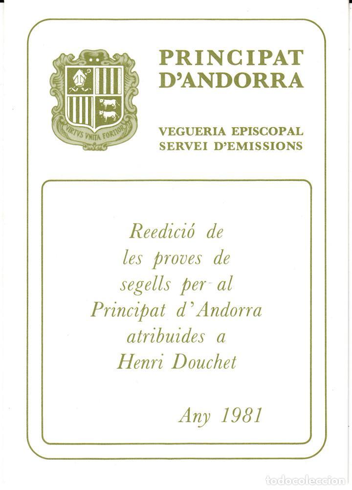 Sellos: ANDORRA .-SERVEI DEMISSIONS - VEGUERIA EPISCOPAL - 1981 -HENRI DOUCHET - NUM 19 - Foto 2 - 244553475