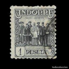 Sellos: ANDORRA. CORREO ESPAÑOL. 1929.PAISAJES DE ANDORRA. 1P. PIZARRA. USADO EDIF.Nº24. Lote 139708446