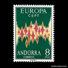 Sellos: ANDORRA. CORREO ESPAÑOL. 1972. 2 MAYO EUROPA .8P .MULTICOLOR. NUEVO**. EDIF.Nº72. Lote 139747442