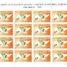 Sellos: ANDORRA - PLIEGO DE 24 SELLOS EUROPA 1995 PAU I LLIBERTAT NUM.248. Lote 143034628