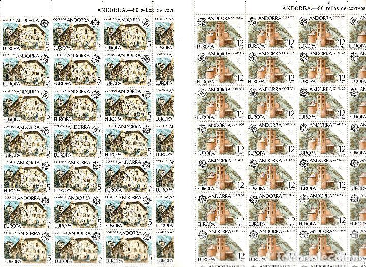 ANDORRA - 2 PLIEGOS DE 80 SELLOS EUROPA 1978 NUMS .117-118 (Sellos - España - Dependencias Postales - Andorra Española)
