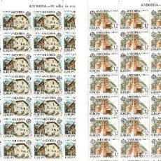 Sellos: ANDORRA - 2 PLIEGOS DE 80 SELLOS EUROPA 1978 NUMS .117-118 . Lote 142406918