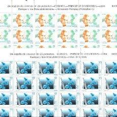 Sellos: ANDORRA - 2 PLIEGOS DE 24 SELLOS EUROPA Y LOS DESCUBRIMIENTOS 1994 NUMS. 242-243. Lote 143057266
