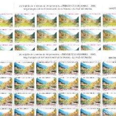 Sellos: ANDORRA - 2 PLIEGOS DE 24 SELLOS AÑO EUROPEO CONSRV. NAT. 1995 NUMS. 246-247. Lote 143057526