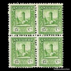 Timbres: ANDORRA. CORREO ESPAÑOL. 1935-1943.TIPOS DE 1929-1934. 15C. VERDE AMARILLO. NUEVO**. EDIF.Nº31. Lote 144826166
