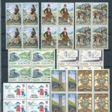 Sellos: ANDORRA,1979,AÑO COMPLETO,EDIFIL 122-132,BLOQUE DE CUATRO,NUEVOS,MNH**. Lote 146435826