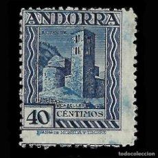 Sellos: ANDORRA. CORREO ESPAÑOL. 1929.PAISAJES DE ANDORRA. 40C AZUL. NUEVO* .EDIFIL.Nº22. Lote 147036042