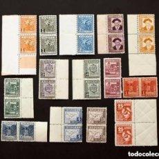 Sellos: ANDORRA - TIPOS DIVERSOS - AÑO 1948-1953 - Nº EDIFIL 45-58 - 2 SERIES SIN USAR, 28 SELLOS. Lote 147338294