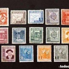 Sellos: ANDORRA - TIPOS DIVERSOS - AÑO 1948-1953 - Nº EDIFIL 45-58 - 14 SELLOS NUEVOS SIN USAR. Lote 147338730