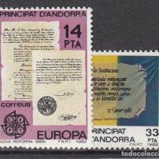 Sellos: ANDORRA ESPAÑOLA CORREO 1982 EDIFIL 157/8 ** MNH - ANDORRA ESPAÑOLA CORREO 1982 EDIFIL 157/8 ** MN. Lote 150768981