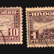 Sellos: ANDORRA ESPAÑOLA 1951 MICHEL 57 Y 58 USADOS VALOR CATALOGO 55 EUROS. Lote 151024574