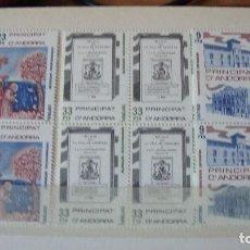 Sellos: ANDORRA ESPAÑOLA AÑO 1982 EDIFIL 163/65 BLOQUE 4 PERFECTOS. Lote 155415934