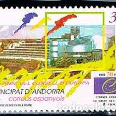 Sellos: ANDORRA EDIFIL Nº 271, 50 ANIVERSARIO DEL CONSEJO DE EUROPA, NUEVO ***. Lote 258188660
