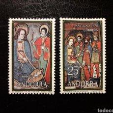 Selos: ANDORRA ESPAÑOLA. EDIFIL 120/1. SERIE COMPLETA NUEVA SIN CHARNELA. NAVIDAD. REYES MAGOS.. Lote 156360434