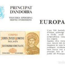 Selos: ANDORRA ESPAÑOL HOJITA EUROPA 1983 VEGUERIA EPISCOPAL PRINCIPAT D'ANDORRA. Lote 160332334