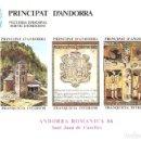 Sellos: HOJITA ANDORRA ROMÁNICA SAN JUAN DE CASELLES 1986 VEGUERIA EPISCOPAL PRINCIPAT D'ANDORRA. Lote 160332550