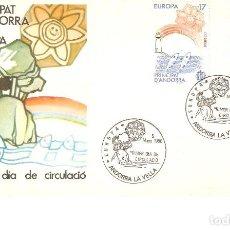 Sellos: ANDORRA ESPÀÑOLA EUROPA-85 PRIMER DÍA CIRCULACIÓN 5 MAYO DE 1985. Lote 160588730