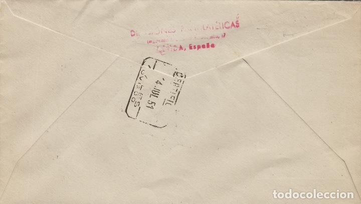 Sellos: ANDORRA C.Español - PAISAJE ,PLAZA ORDINO 1951 ed 59 (2) - SOBRE /SPD PRIMER DIA CIRCULADO DE D.P. - Foto 2 - 161013158