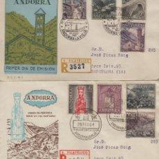 Sellos: ANDORRA ESPAÑOLA . 1963-64 , ED 60/67 EN SOBRE /SPD (2) PRIMER DIA CIRCULADO . . Lote 166942560