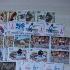 Sellos: ANDORRA ESPAÑOLA AÑOS 1980 1981 COMPLETOS NUEVOS PERFECTOS BLOQUES DE 4. Lote 171337745