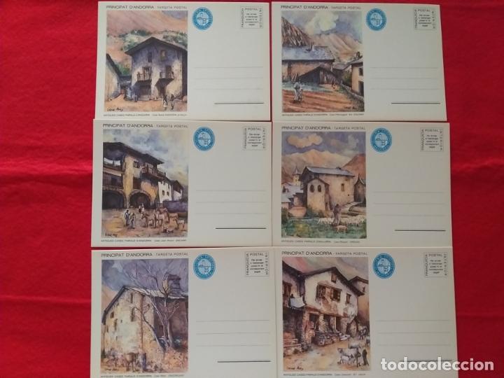 ANDORRA. 6 POSTALES EMBALAJE ORIGINAL. VEGUERIA EPISCOPAL.TARJETA. ENTERO POSTAL. CASAS ANTIGUAS (Sellos - España - Dependencias Postales - Andorra Española)