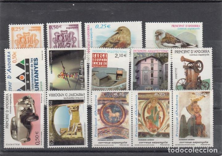 ANDORRA ESPAÑOLA - SELLOS NUEVOS AÑO COMPLETO 2002 A PRECIO FACIAL (Sellos - España - Dependencias Postales - Andorra Española)