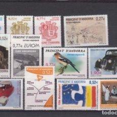 Sellos: ANDORRA ESPAÑOLA - SELLOS NUEVOS AÑO COMPLETO 2004 A PRECIO FACIAL . Lote 176504895