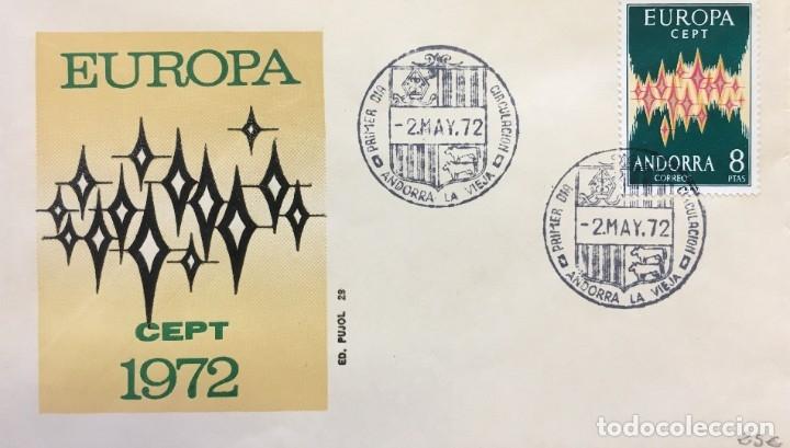 SOBRE PRIMER DÍA ANDORRA ESPAÑOLA (Sellos - España - Dependencias Postales - Andorra Española)