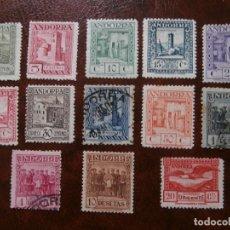 Sellos: ANDORRA 1929 CORREO ESPAÑOL - PAISAJES - Nº CONTROL AL DORSO.. Lote 181407283
