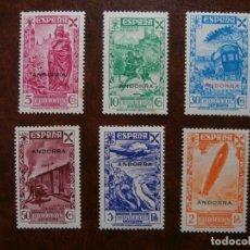 Sellos: ANDORRA BENEFICENCIA 1938 -1 AL 6- NUEVOS.. Lote 181407830