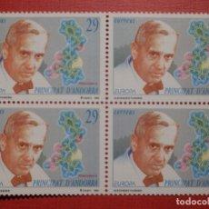 Sellos: SELLO - ANDORRA CORREO ESPAÑOL - BLOQUE DE 4 - EDIFIL 242 - 1994 - ALEXANDER FLEMING . Lote 182056128