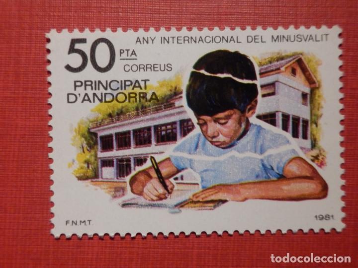 SELLO - ANDORRA CORREO ESPAÑOL - EDIFIL 143 - 1981 - 50 PTA - AÑO INT. MINUSVÁLIDO (Sellos - España - Dependencias Postales - Andorra Española)
