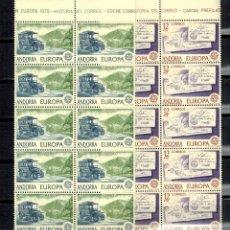 Sellos: LOTE DE 10 SERIES EN BLOQUE DE ANDORRA ESPAÑOLA TEMA EUROPA 1979. Lote 183461335