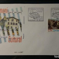 Selos: SOBRE PRIMER DIA ANDORRA ESPAÑOLA. CASA DE LOS VALLES. 10 SEPT. 2007. EDIFIL 349. . Lote 190421195